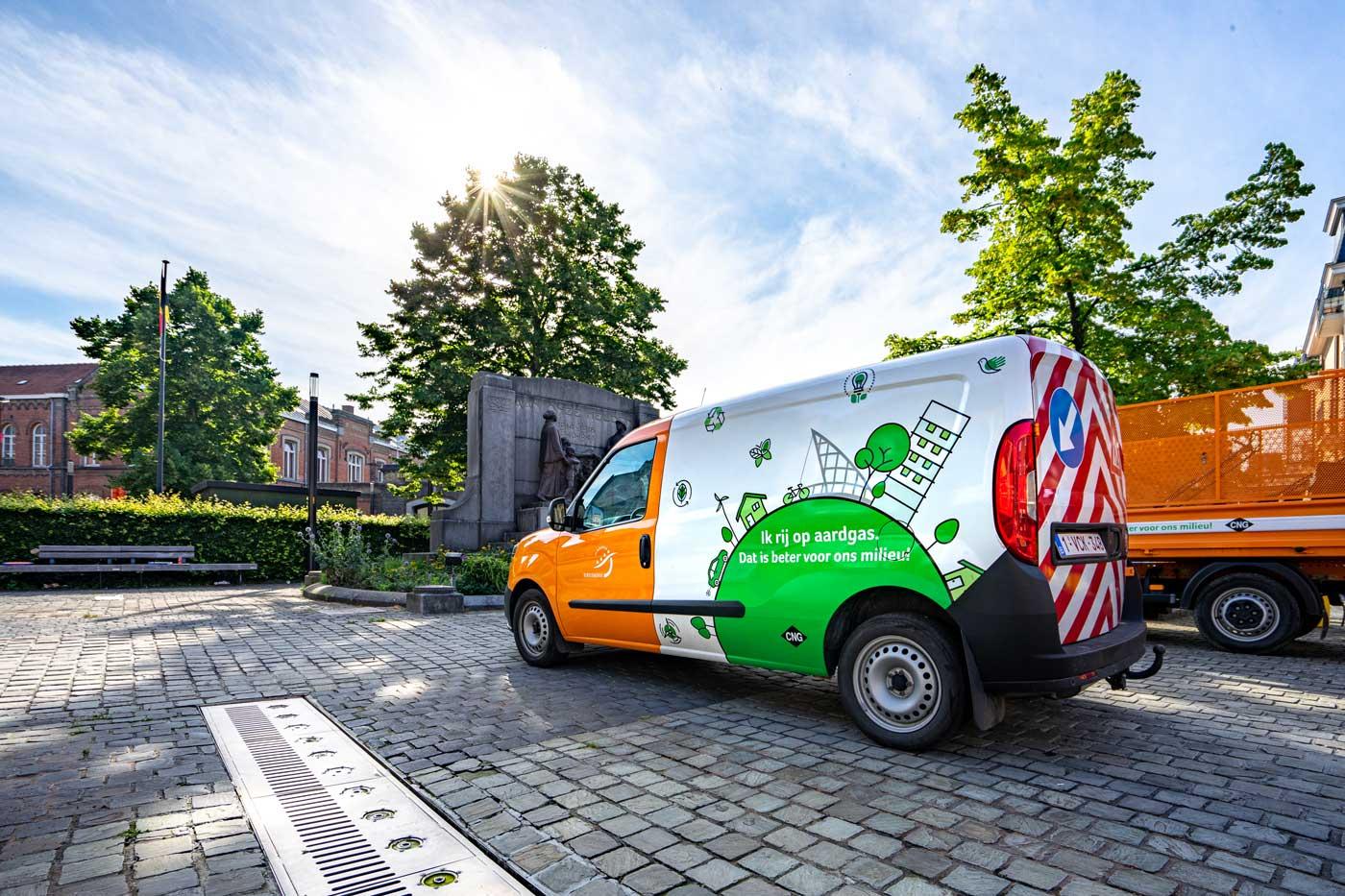Belettering bestelwagen Stad Dendermonde