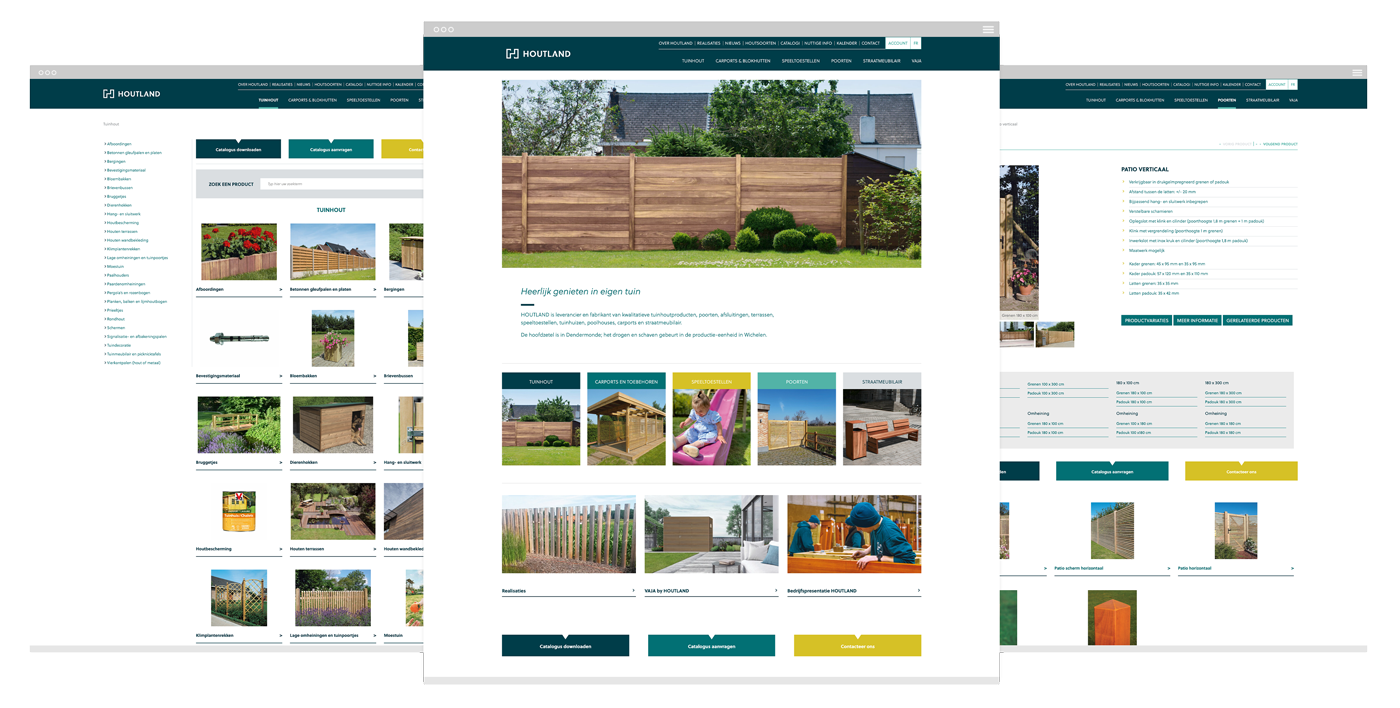 Houtland website