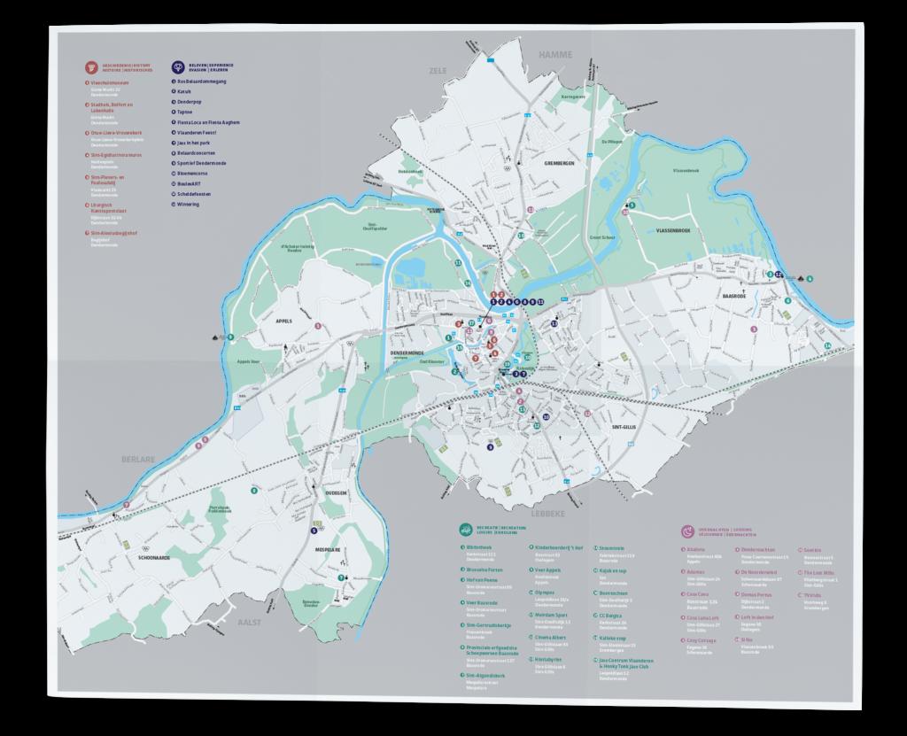 Stad Dendermonde Toerisme Kaart